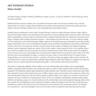 Katalog von der Ausstellung Contemporary Zimbabwean Sculpture in der Prager Nationalgalerie