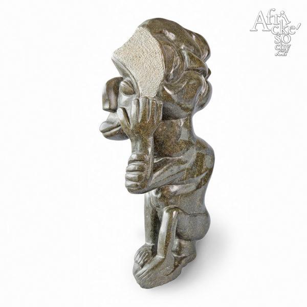 Skulptur von Chitaro Ali: Drei Gesichter