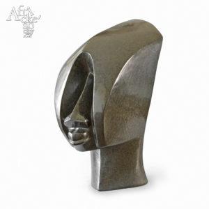 Skulptur von Steady Gomo: Kubistischer Kopf