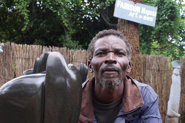Bildhauer Farison Maposa Tengenenge 2014