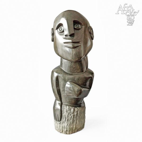Skulptur von Davison Chakawa: Glücklicher Mann