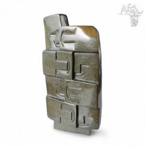Skulptur von Rearson Chakawa: Glückliche Familie