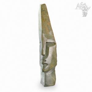 Skulptur von Victor Fire: Häuptlingskopf