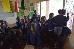 Kinder an der Tengenenge Farm School