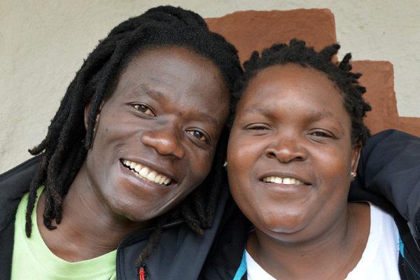 Das Ehepaar Michael Kasvinge und Loice Rabion