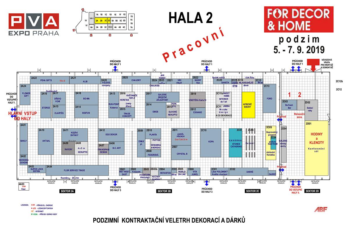Plan der Hallen mit der Ausstellung des Ateliers SteinSkulpturen.eu