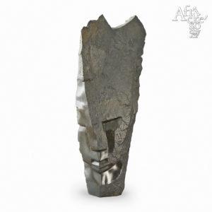 Skulptur von Victor Fire: Schwarzer Kopf | Skulpturen online kaufen