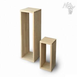 Sockel für eine Skulptur aus Eichenholz ohne Oberflächenbehandlung