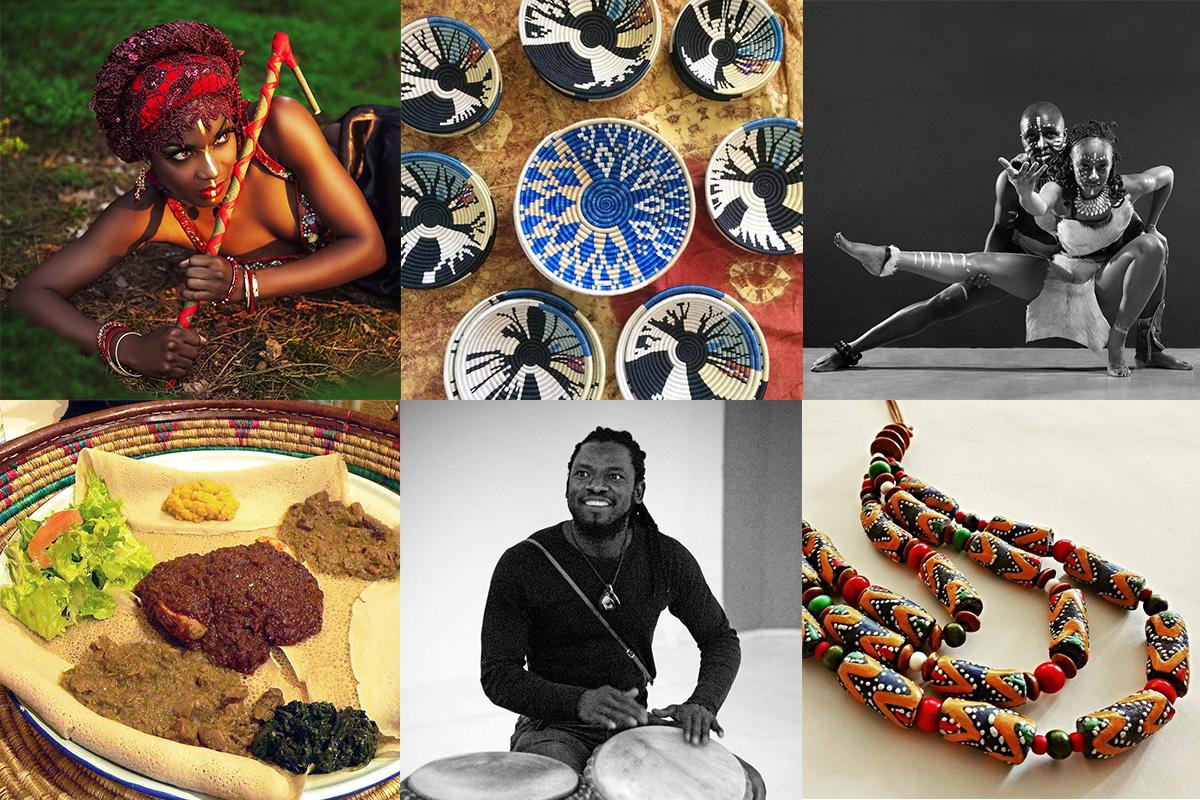 African Food Festival im Botanischen Garten in Prag