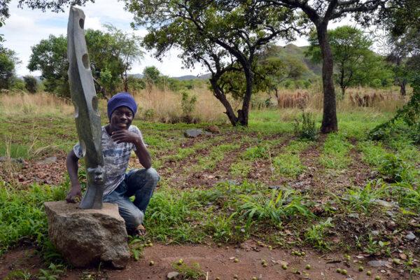 Bildhauer Douglas Shawu - Tengenenge 2020