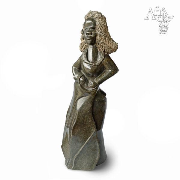 Skulptur von Chipo Girafa: Dame
