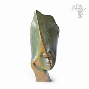 Skulptur von Issa Simms: Kopf | Steinskulpturen online kaufen